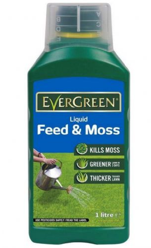 Scotts Evergreen Liquid Feed and Moss 1L 66.7m2 Kill Moss Thicken Lawns